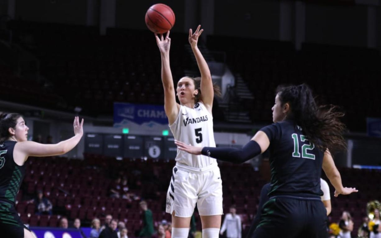 Washougal High grad Beyonce Bea appeared in all 31 games for Idaho, averaging 12.6 points and 5.8 rebounds for the Vandals (22-9).