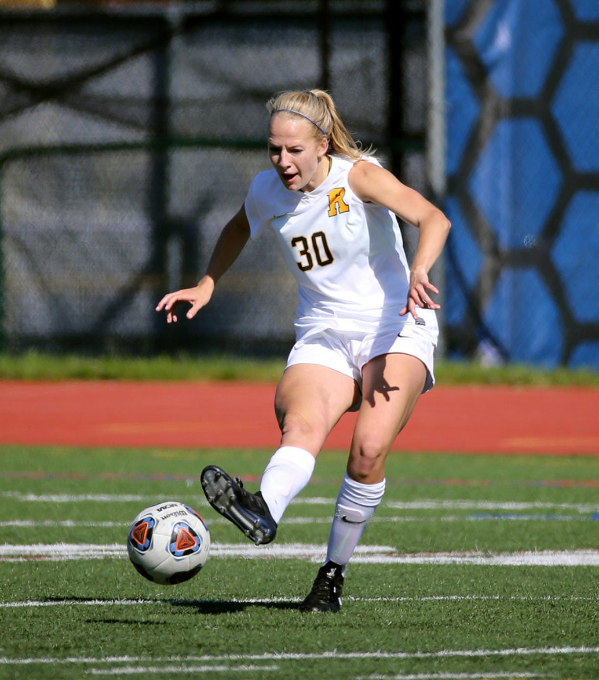 Jorie Freitag started 56 games over her four-year soccer career at the University of Rochester.