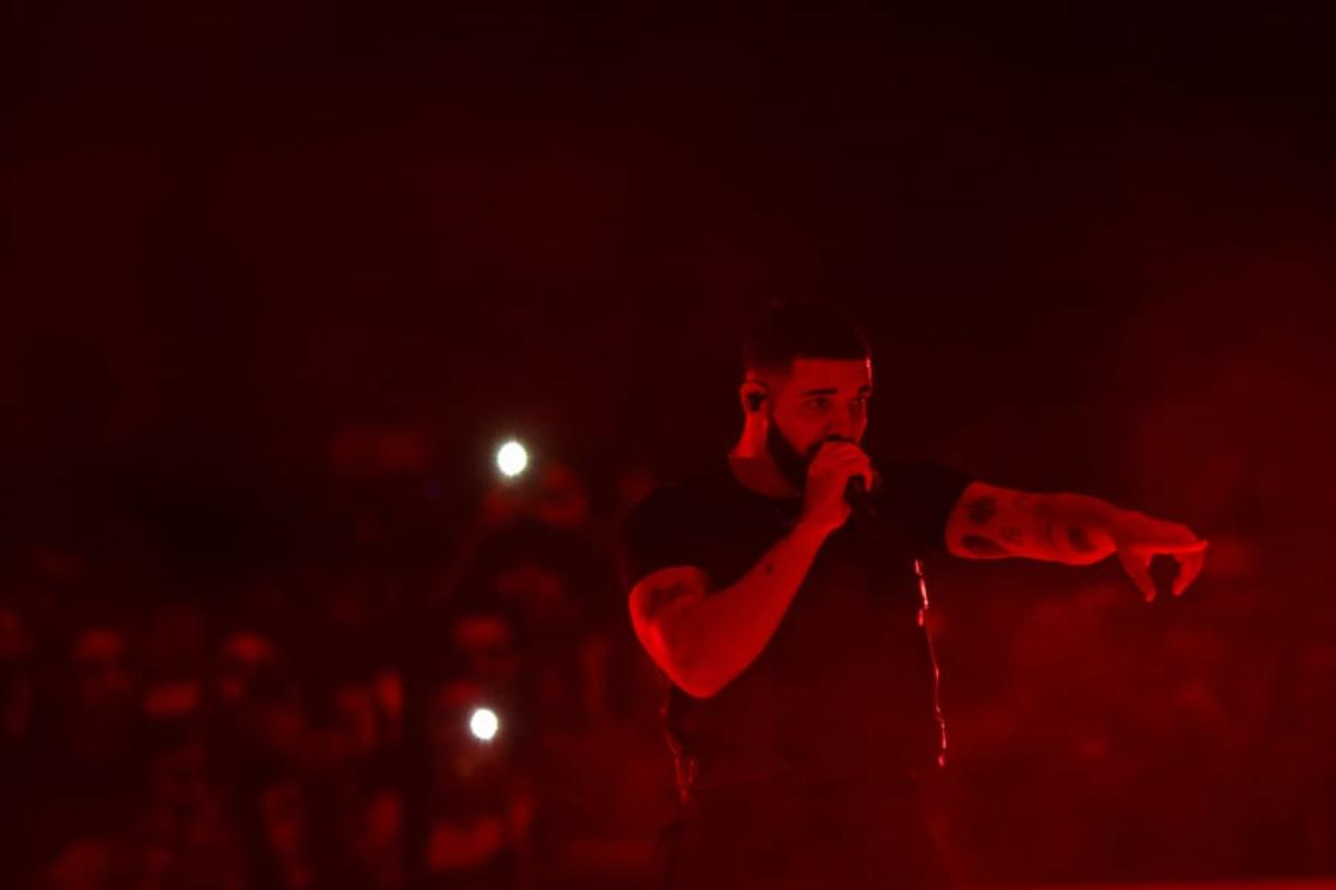 Drake performs in concert at the Staples Center in 2018.