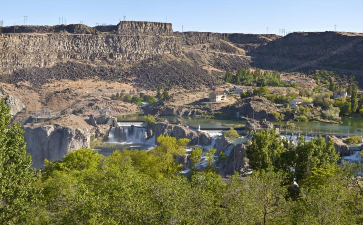 Shoshone Falls is near Twin Falls, Idaho. State parks in the state remained opened during the state's stay-home order.