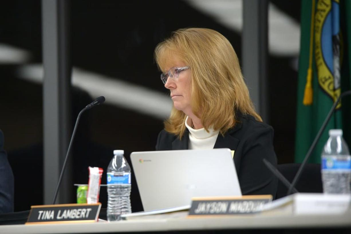 Battle Ground Public Schools board member Tina Lambert, shown in 2018, is resigning.