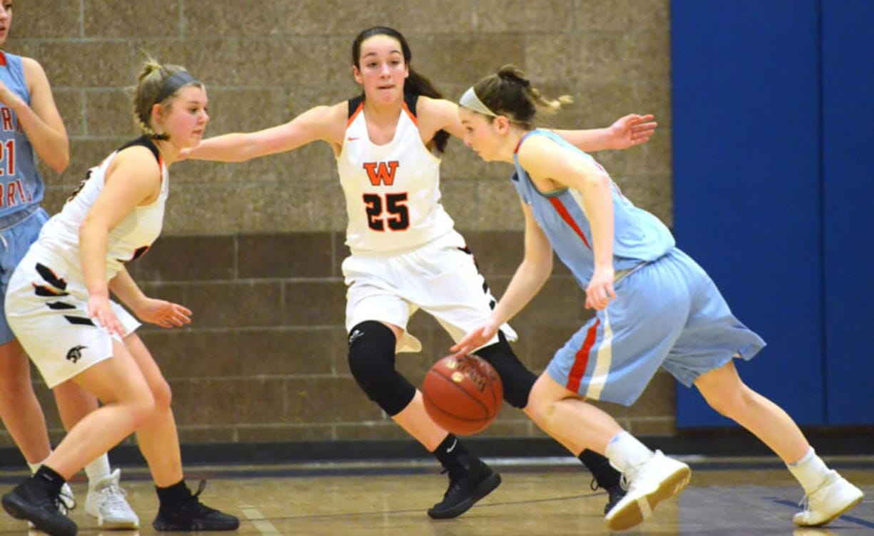 Washougal's Skylar Bea (25) will be playing for the University of Idaho next season.