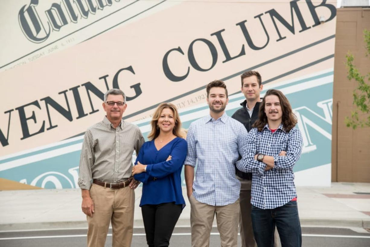 Aevum Images   The owners of The Columbian, from left, Scott, Jody, Ben, Will and Ross Campbell, in 2015.