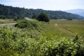 Construction at Steigerwald Lake National Wildlife Refuge, seen Friday, will include raising state Highway 14.