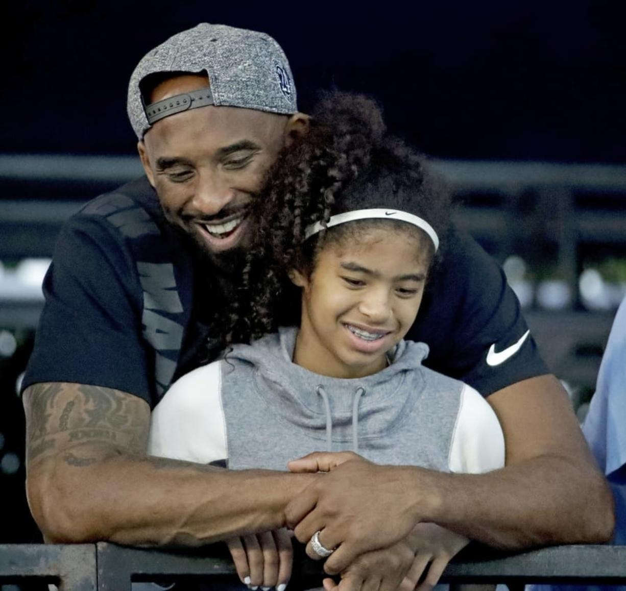 Former Los Angeles Laker Kobe Bryant and his daughter Gianna pictured here in July 2018.