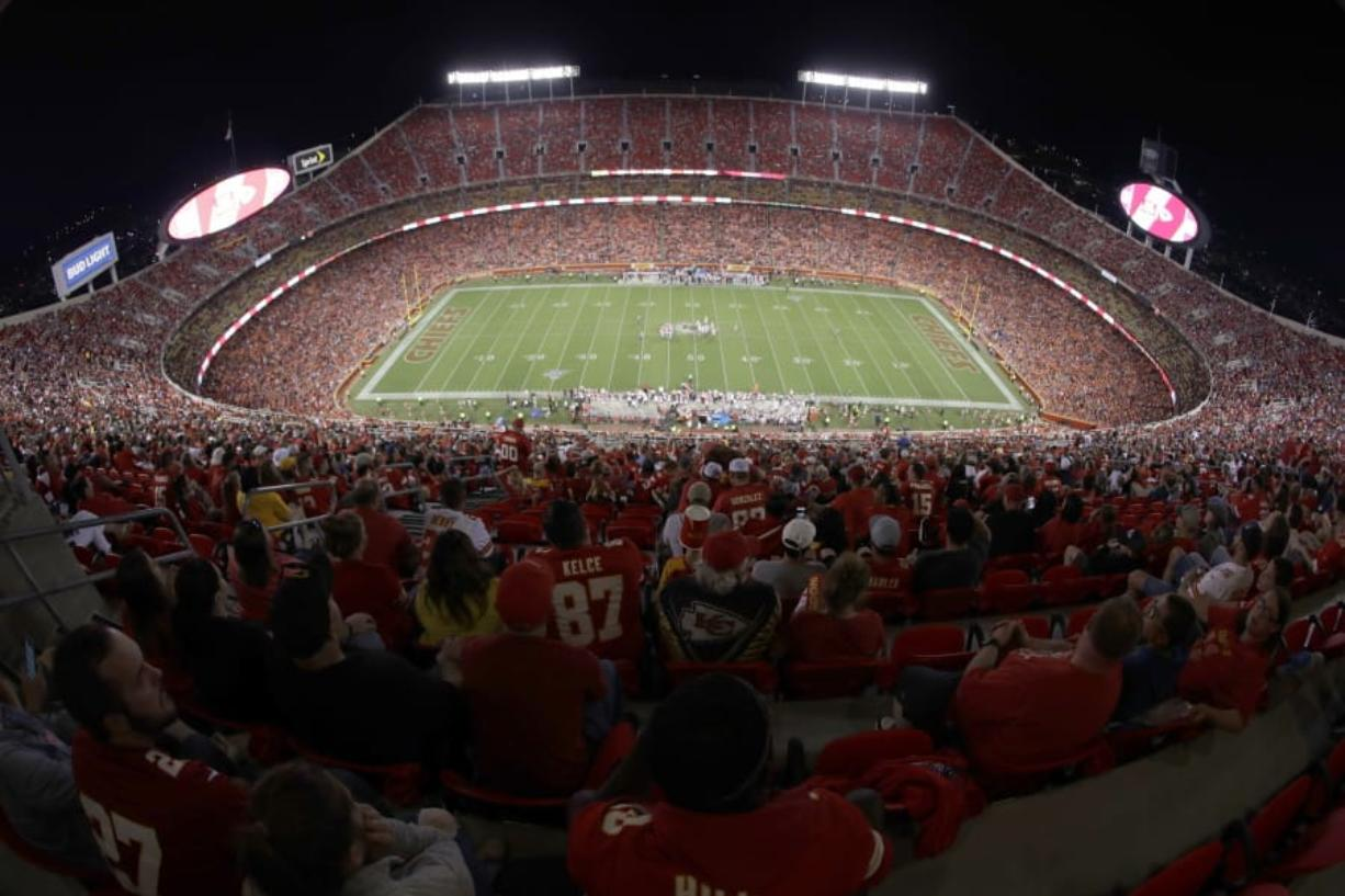 Arrowhead Stadium in Kansas City, Mo. The Chiefs will open defense of their Super Bowl championship by hosting Houston on Sept. 10 in the NFL's annual kickoff game -- pending developments in the coronavirus pandemic, of course.