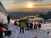 A leader with the group Portland Mountain Rescue raised concerns Sunday that the high number of climbers packing Mount Hood are endangering themselves and the rescue crews who respond when something goes wrong.