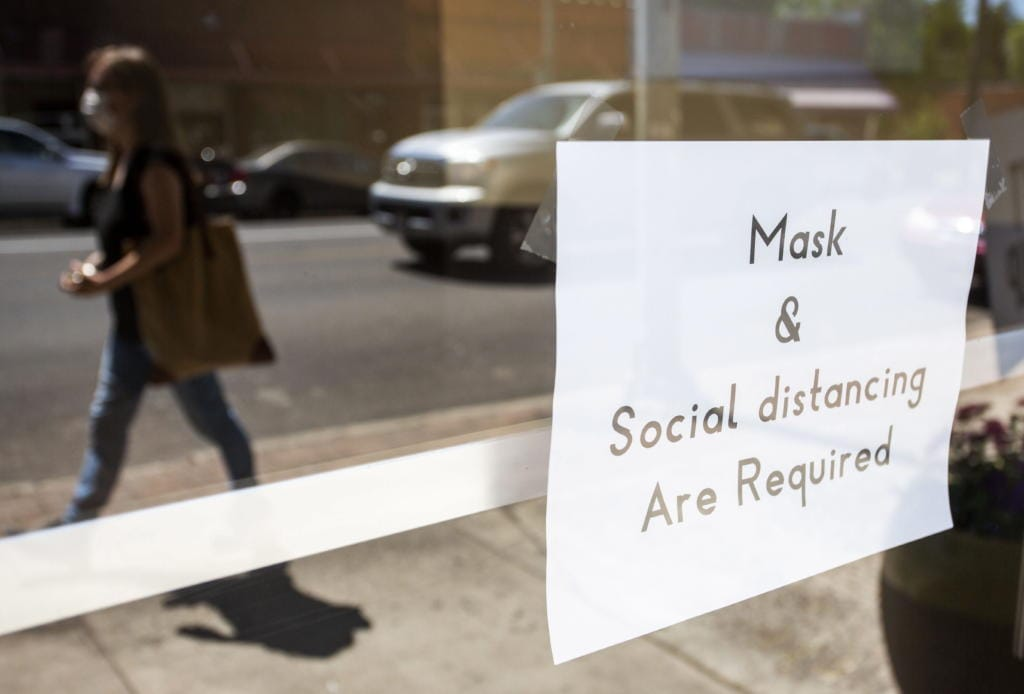 Masks are be required in public in Washington starting today to help prevent the spread of the coronavirus.