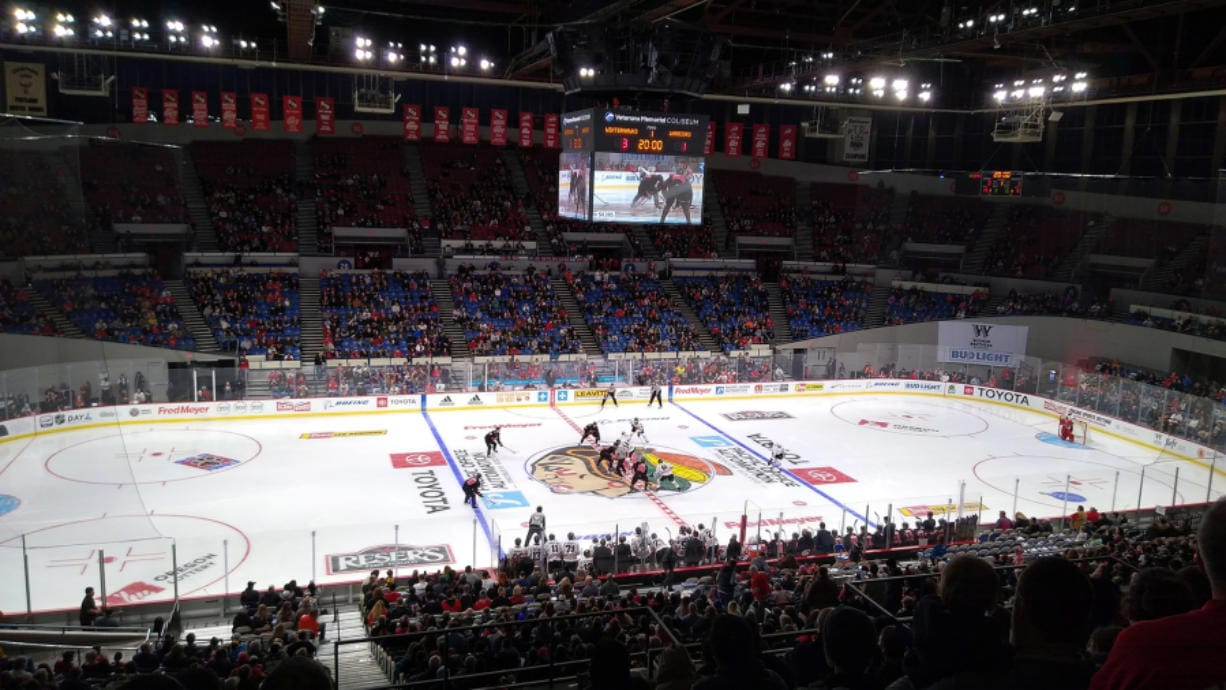 The Portland Winterhawks play the Moose Jaw Warriors at the Veterans Memorial Coliseum on Feb. 16, 2020. Western Hockey League commissioner Ron Robison said on Thursday, June 18, 2020, that in order for the league to reopen next season areans will need to be at least at 50 percent capacity. The WHL depends on ticket sales to operate.