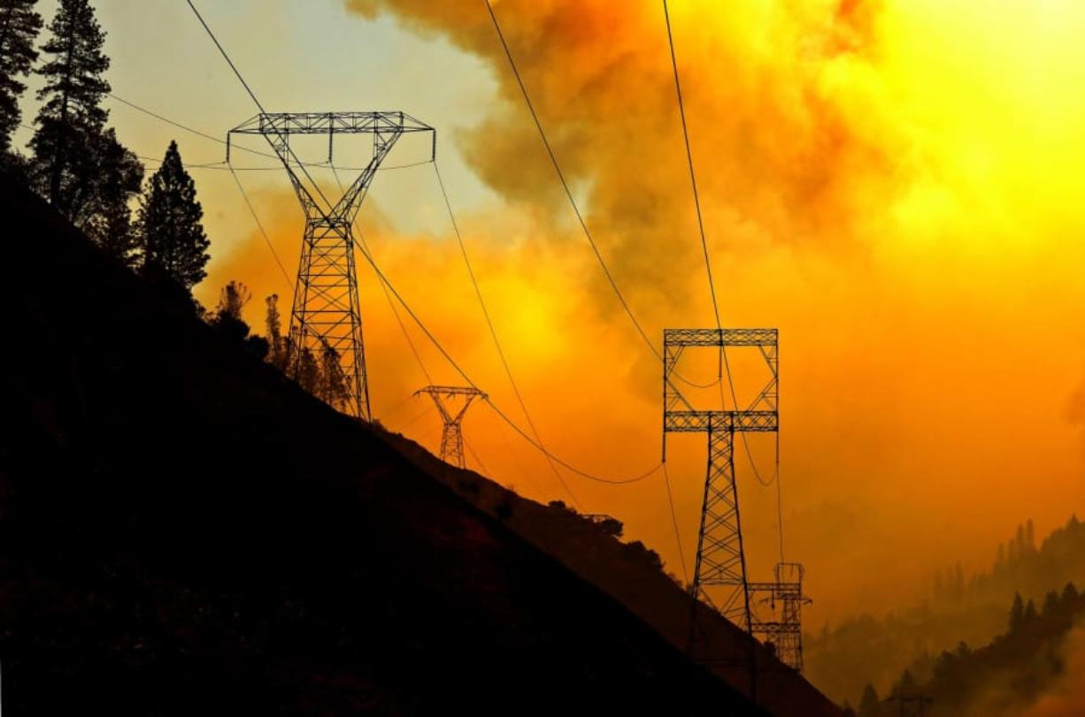 The Camp Fire burns near Pulga, Calif. A Wall Street Journal story linked the blaze to maintenance delays on PG&E power lines.