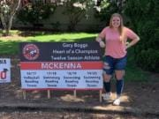 McKenna Ellen was honored with the Gary Boggs Award for participating in a sport every season she attended Fort Vancouver High  (Photo courtesy of Fort Vancouver High athletics)