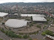 An aerial view of Portland's Rose Quarter district. (Randy L.