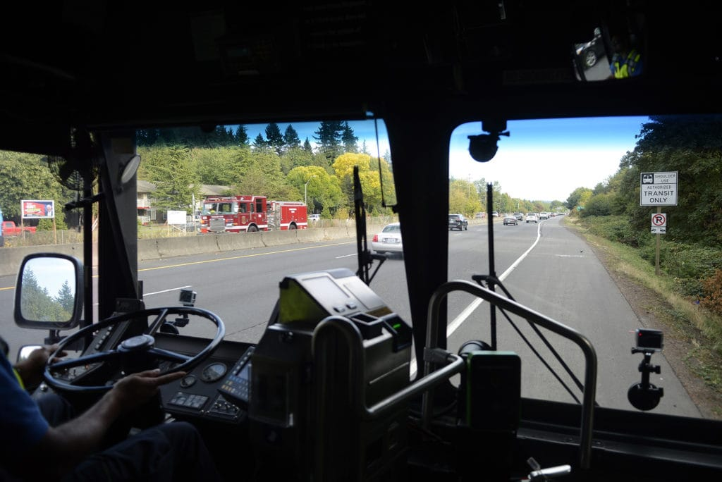 C-Tran and the Washington State Department of Transportation will start construction this weekend on a project that will create a bus-only lane on the left shoulder of a 5-mile stretch of southbound Interstate 5 through Vancouver. C-Tran has been running buses on the shoulder of Highway 14 for about three years.