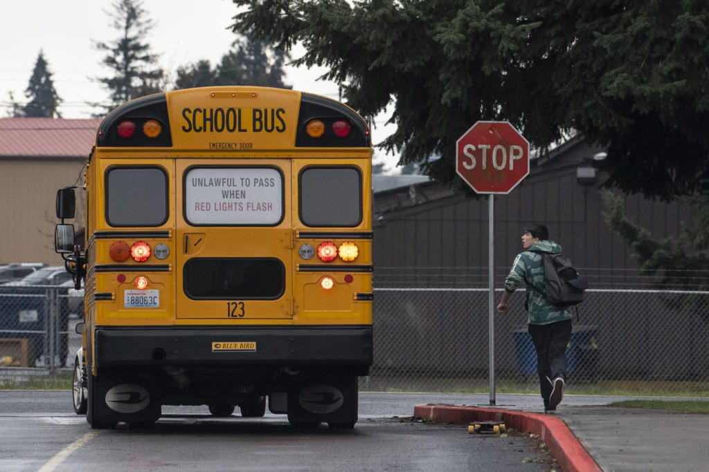 The last day of school for students in Washington was  March 13, 2020.