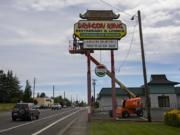 The former Dragon King restaurant in Hazel Dell is now being converted into becoming the third location for The Herbery, one of four cannabis shops in development for the unincorporated parts of Clark County.