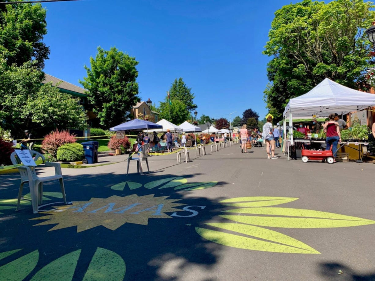 Opening day at the Camas Farmer's Market.