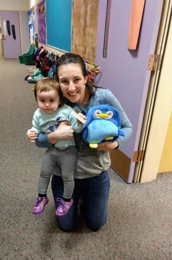 WASHOUGAL: General Federation of Womenis Clubs Camas-Washougal is helping young readers through their Reach for the Stars with Books program, which places books into the hands of preschool students, like Violet Bobrow, pictured with her mother, Brianna Bobrow.