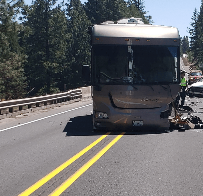 Two Vancouver residents were taken to a hospital and an Oregon woman was killed in a collision Monday on Highway 26 in Wasco County, Ore.