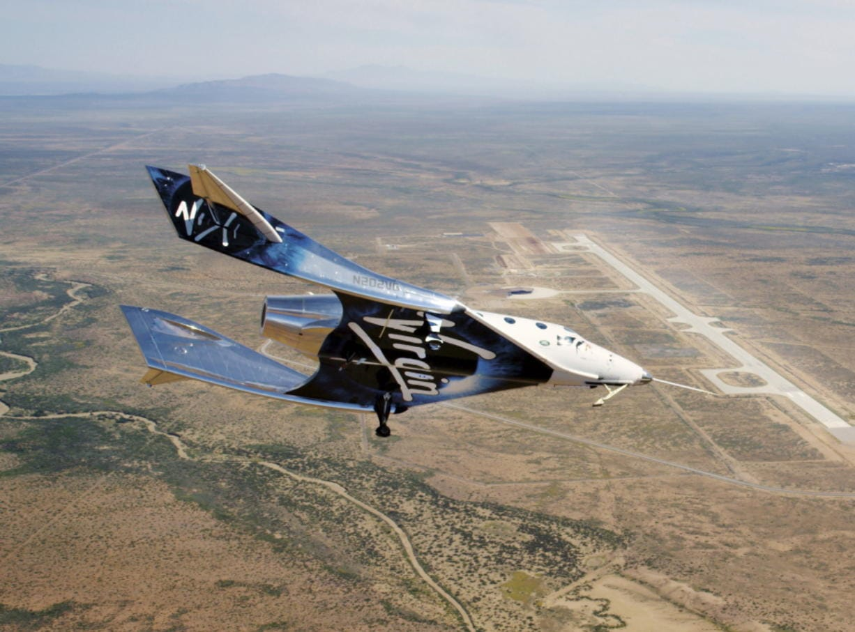 The SpaceshipTwo Unity flies free in New Mexico airspace for the first time on May 1. Founder Richard Branson is the only one of the three billionaires planning to launch himself -- from New Mexico, hopefully, by year's end -- before putting customers aboard.