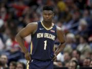 New Orleans forward Zion Williamson and the Pelicans are schedule to play the first game of the NBA's resumed schedule.