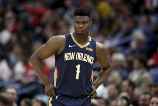New Orleans forward Zion Williamson and the Pelicans are schedule to play the first game of the NBA's resumed schedule. (AP Photo/Rusty Costanza, File)
