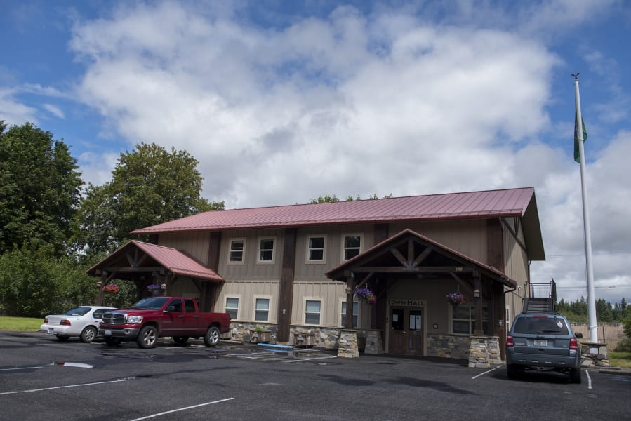 Yacolt Town Hall is the seat of government for Clark County's smallest incorporated community.