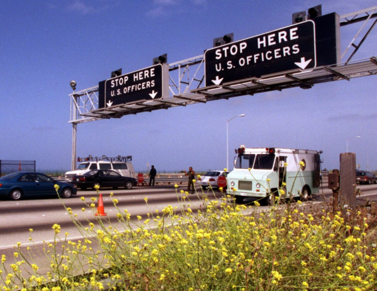 On a normal day the INS Agents manning the checkpoint on the Northbound-I-5 freeway in San Onofre say that 80 cars per minute pass by. The future of the checkpoint is under review right now as the INS Commissioner is to decide later this month to either continue or close it, and send the officers to the border.