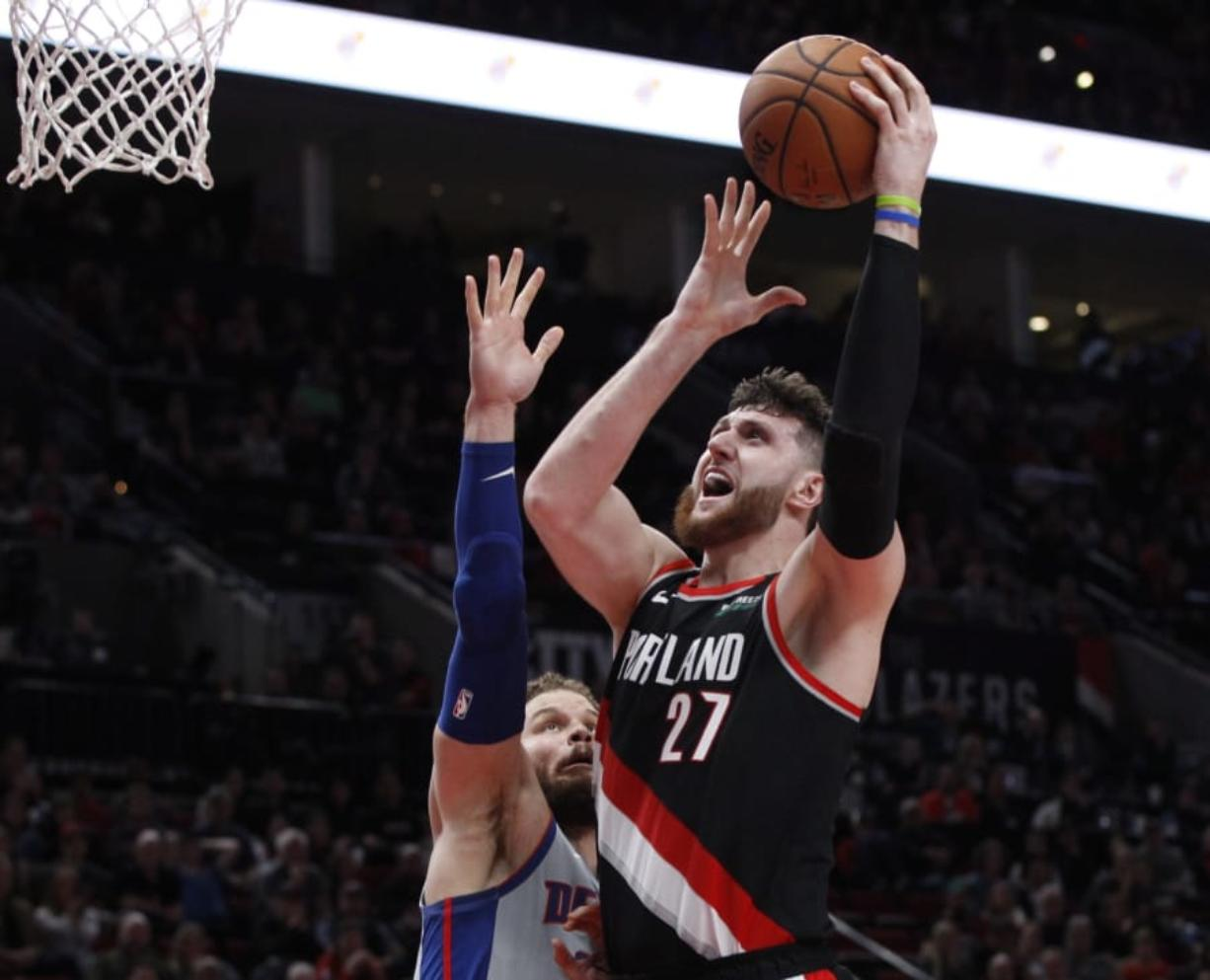 Portland Trail Blazers center Jusuf Nurkic was averaging 15.6 points and 10.4 rebounds per game before suffering a broken leg last season.