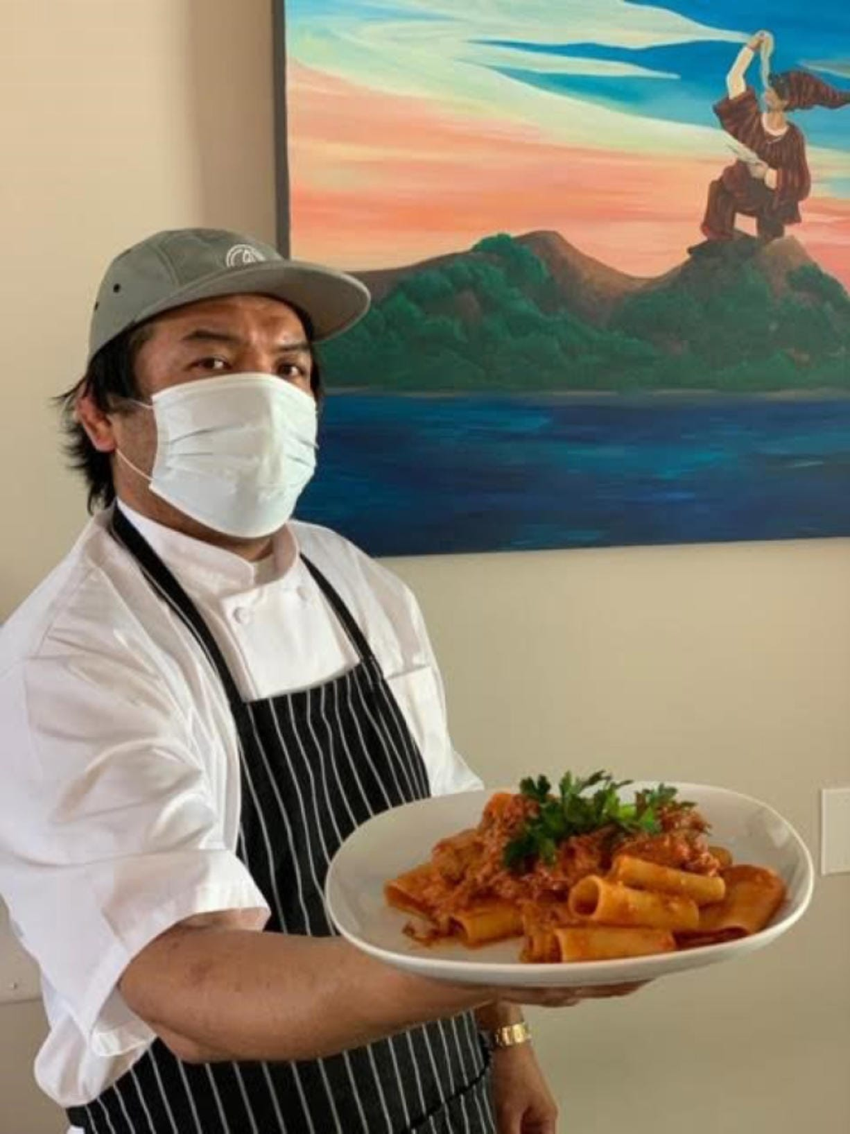 Chef Daisuke Matsumoto barely opened La Sorrentina before the pandemic shutdown hit.