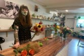 Janessa Stoltz has a flower business in Acorn & The Oak, which is a supper club in the evenings.