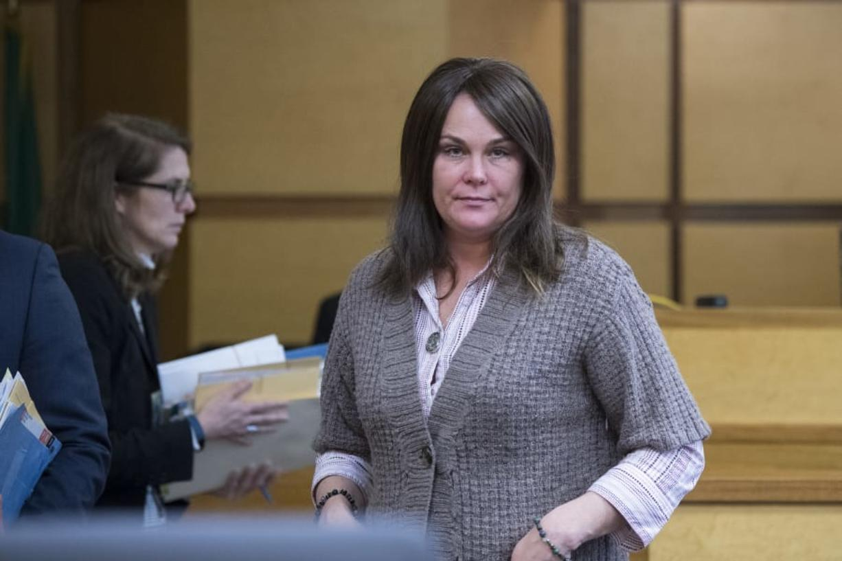 Sadie Pritchard, an associate principal at Evergreen High School who resigned following allegations she had sex with a student at the school, changes her plea to guilty Feb. 4 in Clark County Superior Court. Pritchard was sentenced Tuesday to 300 days of work release.