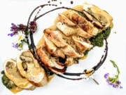 Chicken roulade with fennel frond pesto from Crave Catering/Gather and Feast Farm.