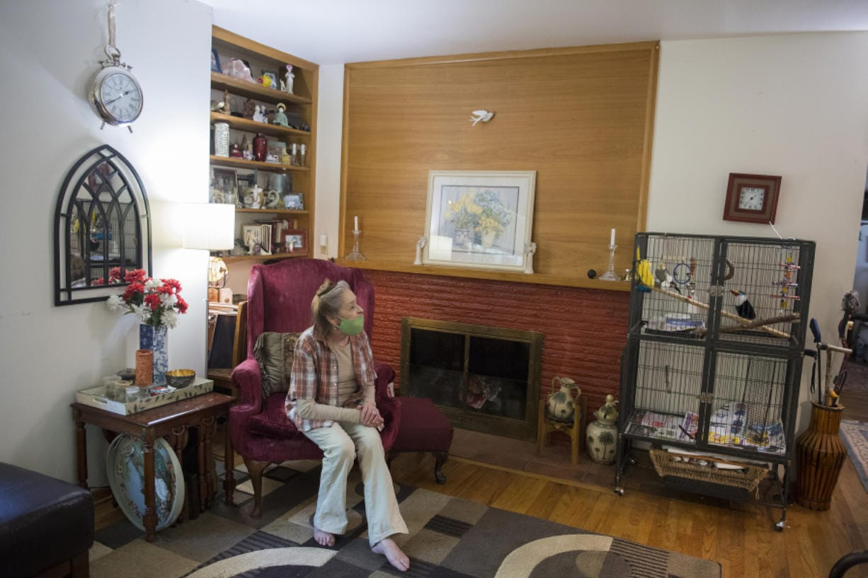 Kathleen Johnson of Vancouver is happy to have her cockatiel, Billy, home safely after he flew the coop for six weeks.