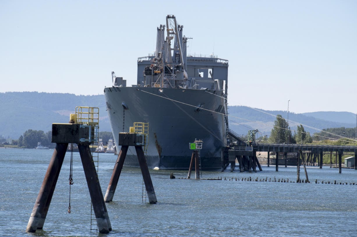 The USNS Brittin will be docked at the Port of Vancouver for 90 days as it undergoes routine maintenance and inspection.