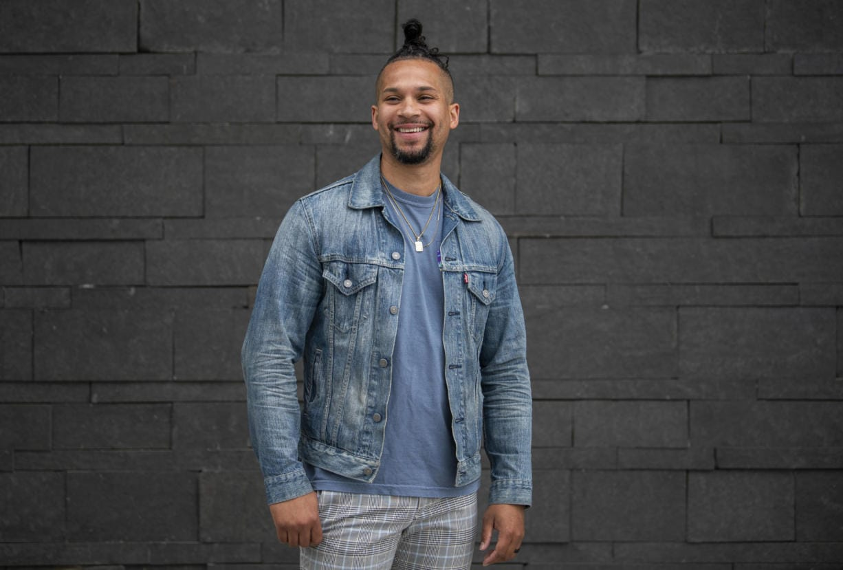 Tyler Monk, director at Ready to Rise, is pictured in Vancouver on Saturday, July 25, 2020. Ready to Rise is a leadership development program working to support the next generation of diverse leaders on their journey to a college degree and leadership in their hometown. Monk is facilitating and speaking in the ÒStories from our Black CommunityÓ VanTalks session. Monk said he hopes this session will be able to continue with a series of talks from the local Black community.