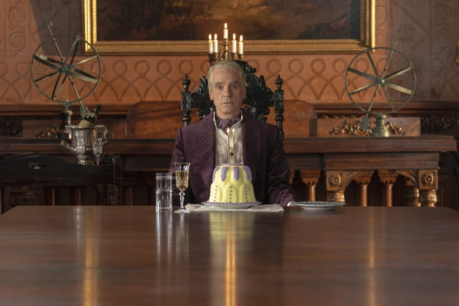 "Jeremy Irons in a scene from ""Watchmen,"" which received 26 Emmy nominations Tuesday, including Irons for outstanding lead actor in a limited series or movie."