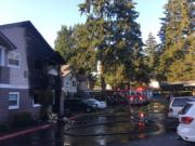 Several people were injured in an apartment fire Wednesday night in east Vancouver.