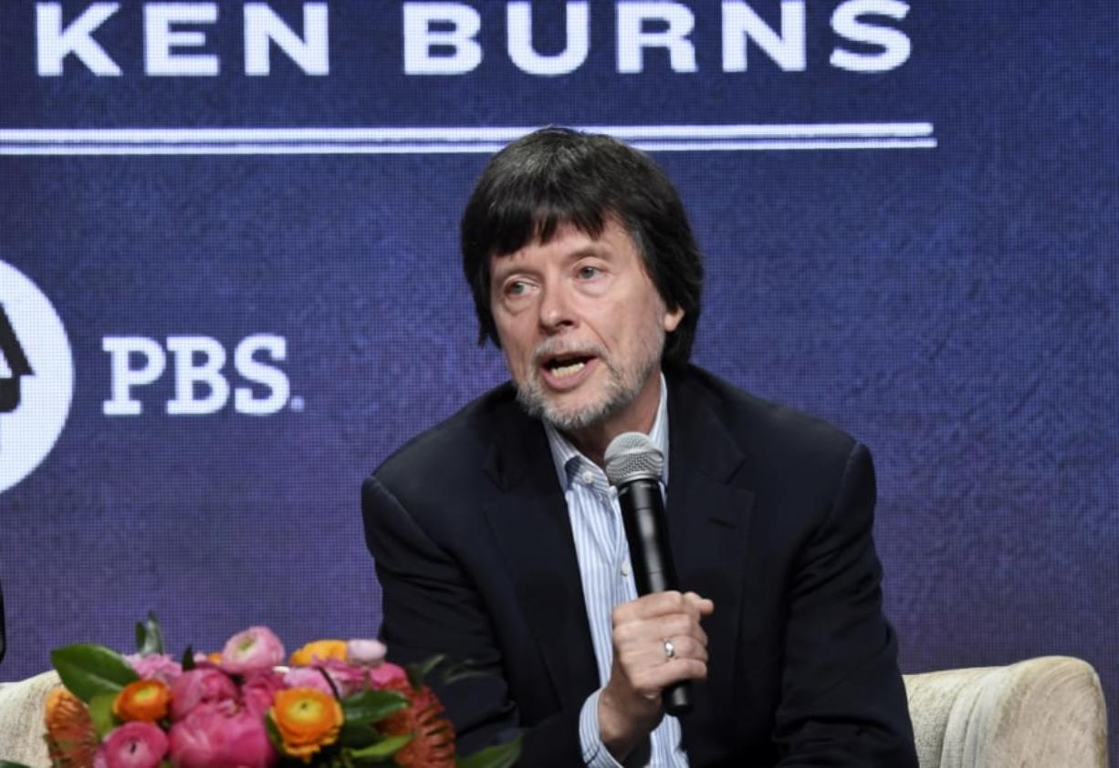 """FILE - Ken Burns, director of the PBS documentary series """"Country Music,"""" speaks in a panel discussion during the Television Critics Association Summer Press Tour on July 29, 2019, in Beverly Hills, Calif. Burns says he has eight new projects in the works, including deep-dive looks at Benjamin Franklin, Muhammad Ali, Leonard da Vinci and Ernest Hemingway. PBS announced a new online home for all the work of Burns and other documentarians, a subscription streaming service that will start next month. Besides Burns' library, the service will also have work from """"NOVA"""" and """"Frontline."""