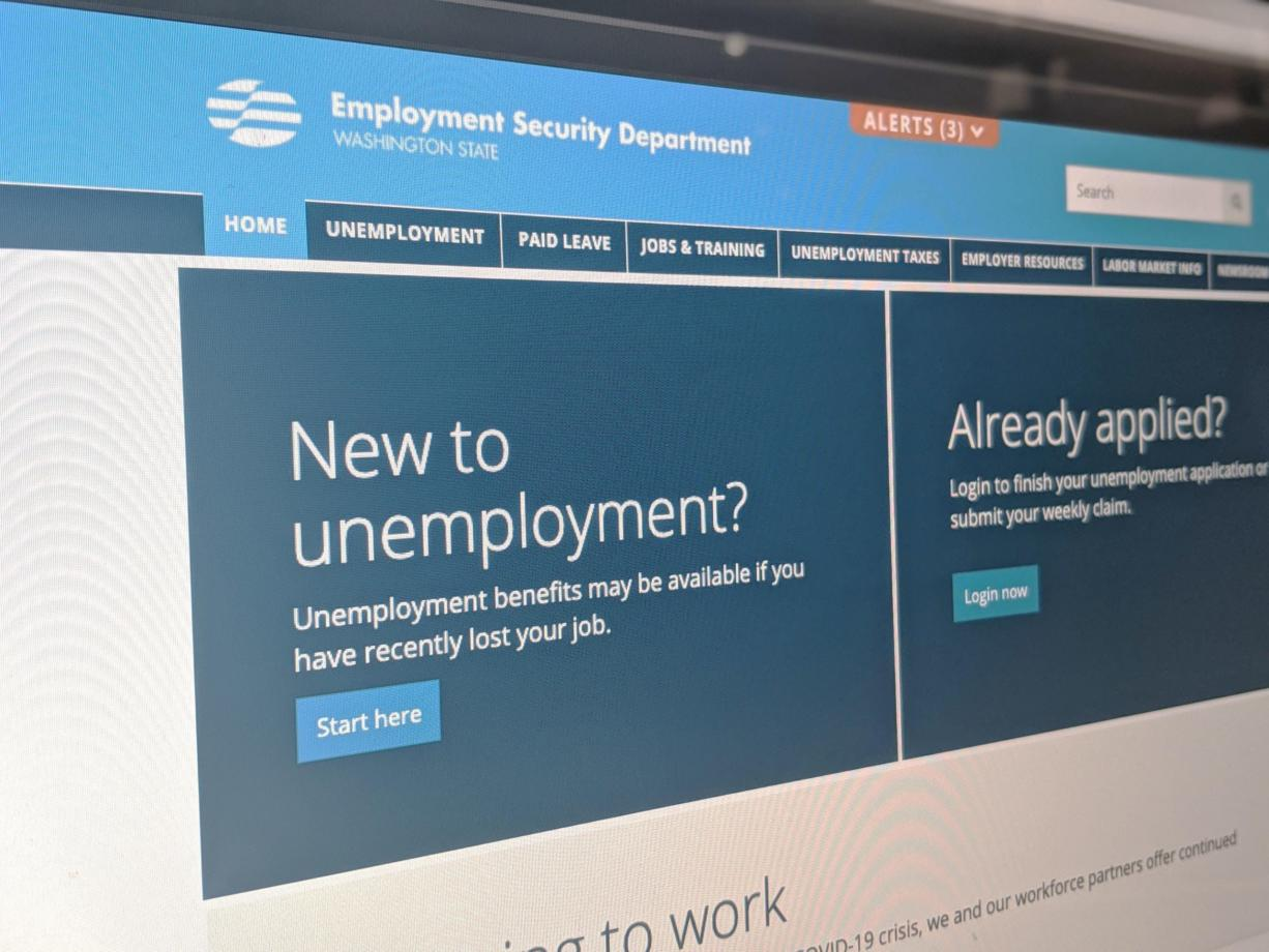 The home page of the Washington Employment Security Department (The Columbian files)