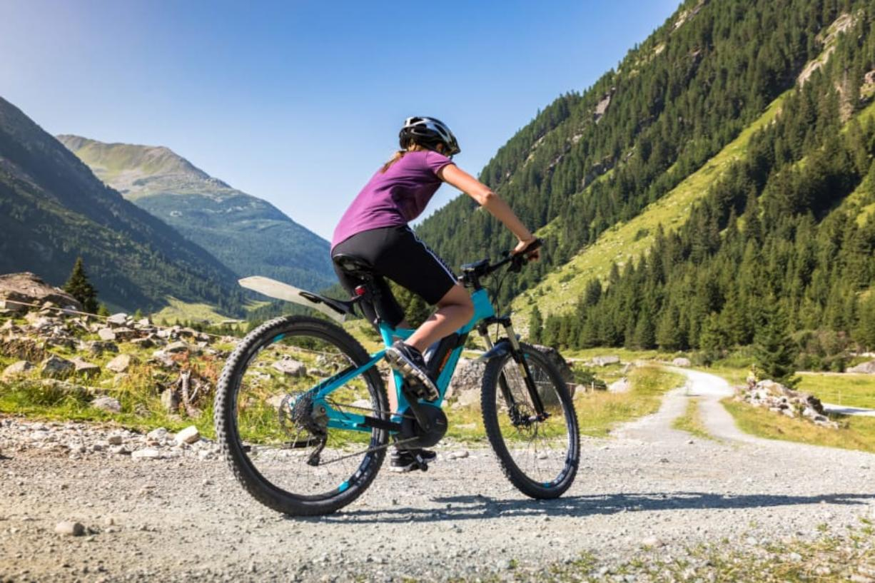 Gravel bike routes typically include a mix of paved roads and dirt/gravel forest roads.