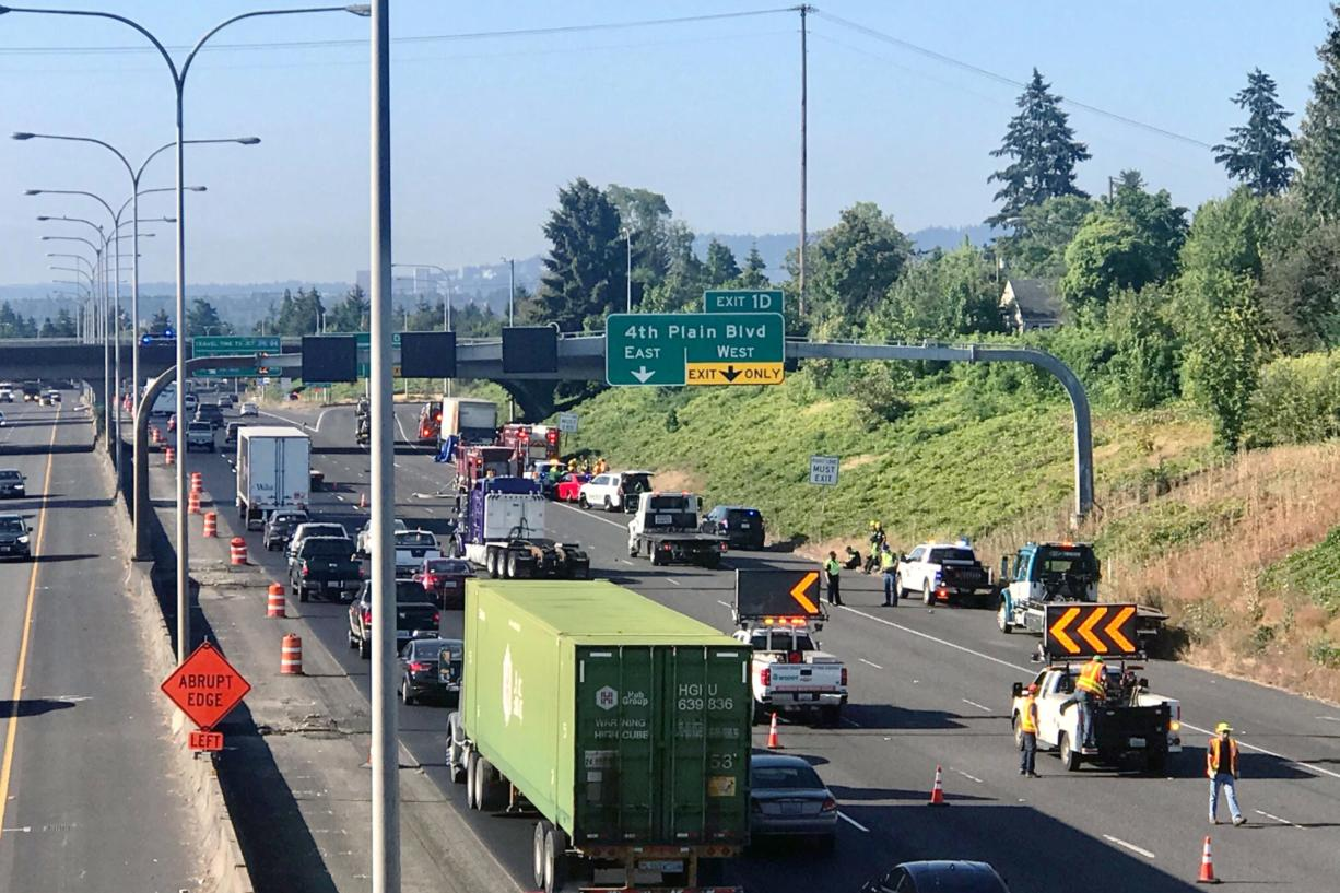 A fatal crash backed up traffic on Interstate 5 southbound on Wednesday morning.