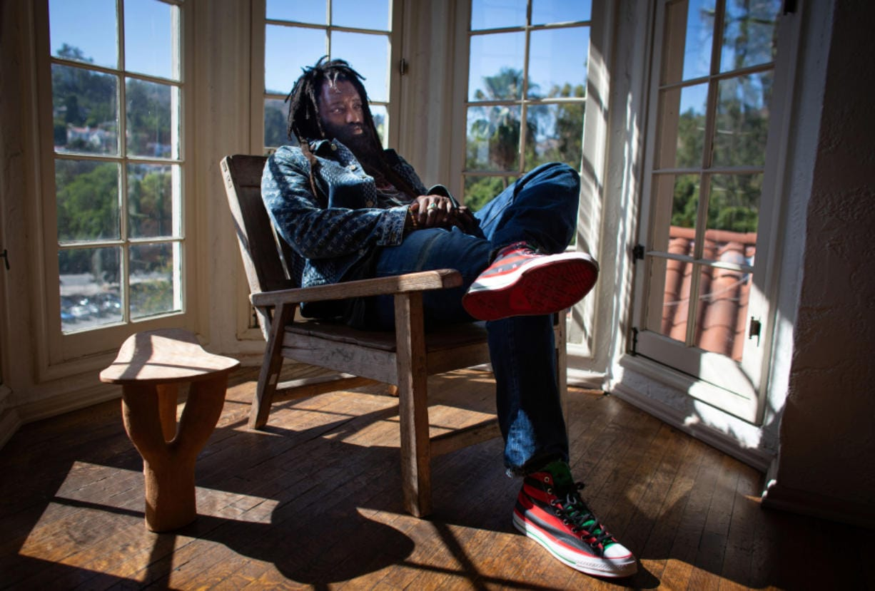 Tremaine Emory, a creative director and designer, at his Los Angeles home. Emory's streetwear clothing brand tells the story of the Black experience in America.