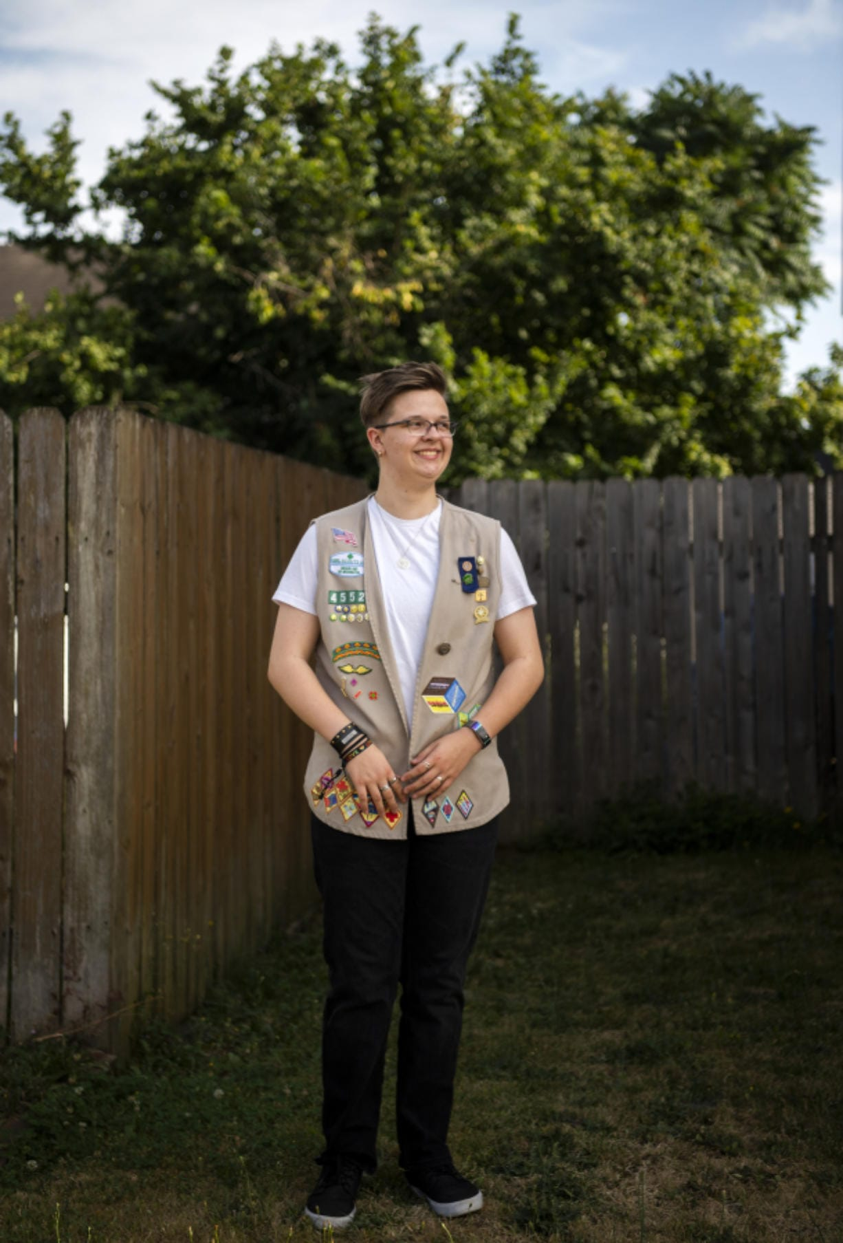 Casey Ellson, 16, grew up in Girl Scouts and continued participating after coming out as transgender and beginning a medical transition.