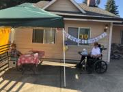ORCHARDS: A couple celebrated their 70th anniversary in a nontraditional way recently due to COVID-19.