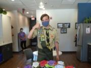 RIDGEFIELD: For his Eagle Scout project, Ridgefield High School Gavin Gannon sewed hundreds of masks for the Ridgefield School District.