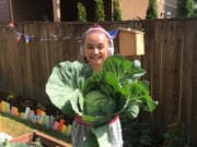 Melanie Gilbert, 12, has been keeping busy during the pandemic by maintaining a Victory Garden.