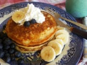 The batter for these buttermilk griddle cakes is on the thick side, but they cook up fluffy and golden.