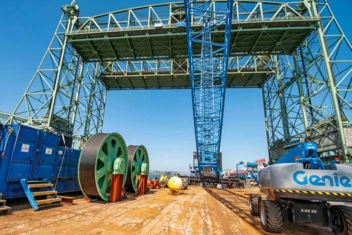 Replacement parts for the Interstate 5 Bridge's lift mechanism were custom-built in Alabama and shipped to Oregon. They arrived at the bridge via barge on Aug. 4 and will be installed during a nine-day closure of the bridge Sept. 12 to 20.