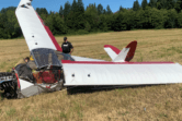 A small plane crashed in Clark County on Friday morning but the pilot was not seriously injured.
