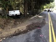 A fatal crash on Lucia Falls Road killed two people on Tuesday. The crash is till under investigation.